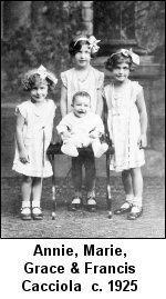 Annie Marie Grace & Francais Cacciola c. 1925