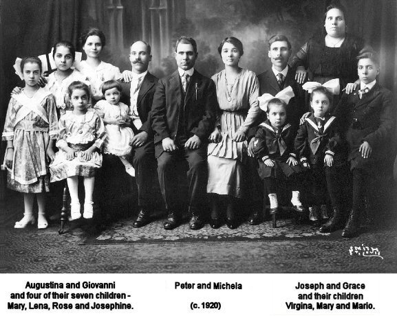 Quagliata family group photo taken in St. Louis, c. 1920.