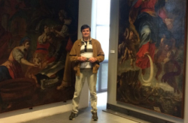 Vittorio at Messina Regional Museum with GBQ paintings.